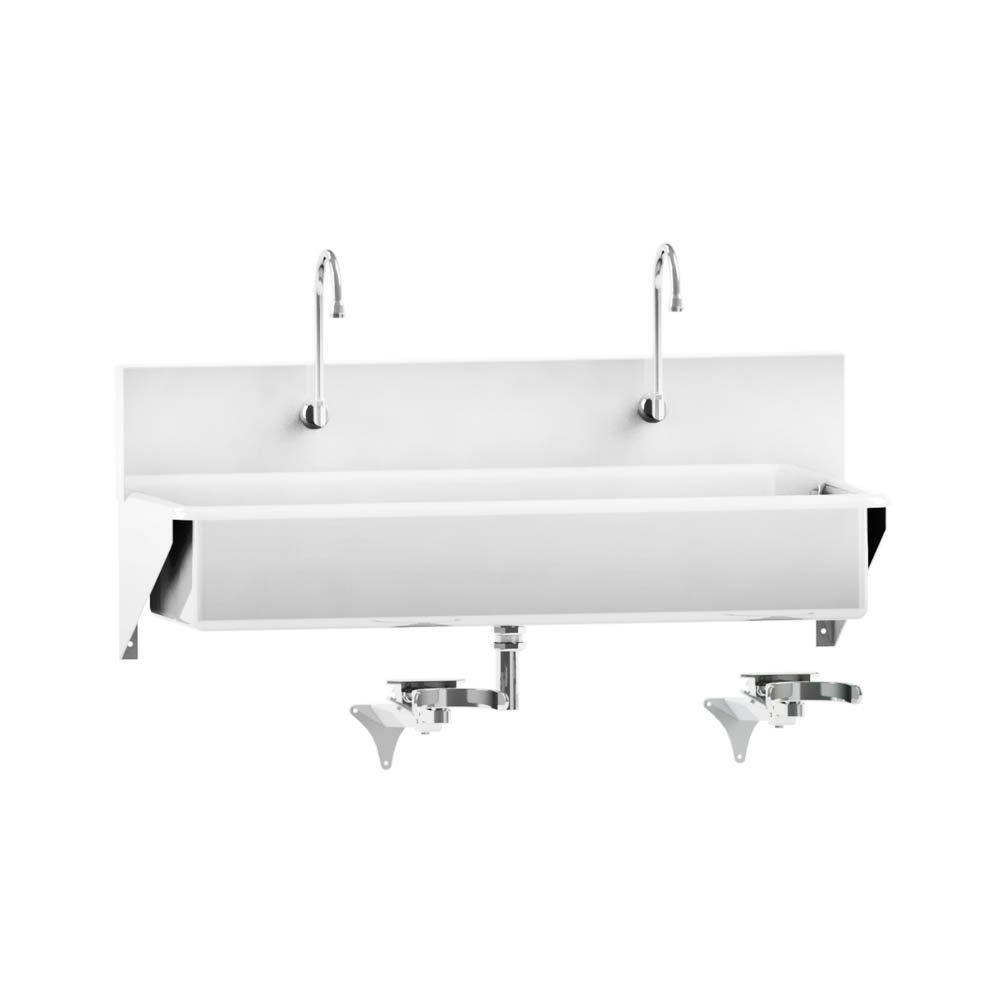 Windsor Scrub Sink - Double-Place Knee-Action Control - 47