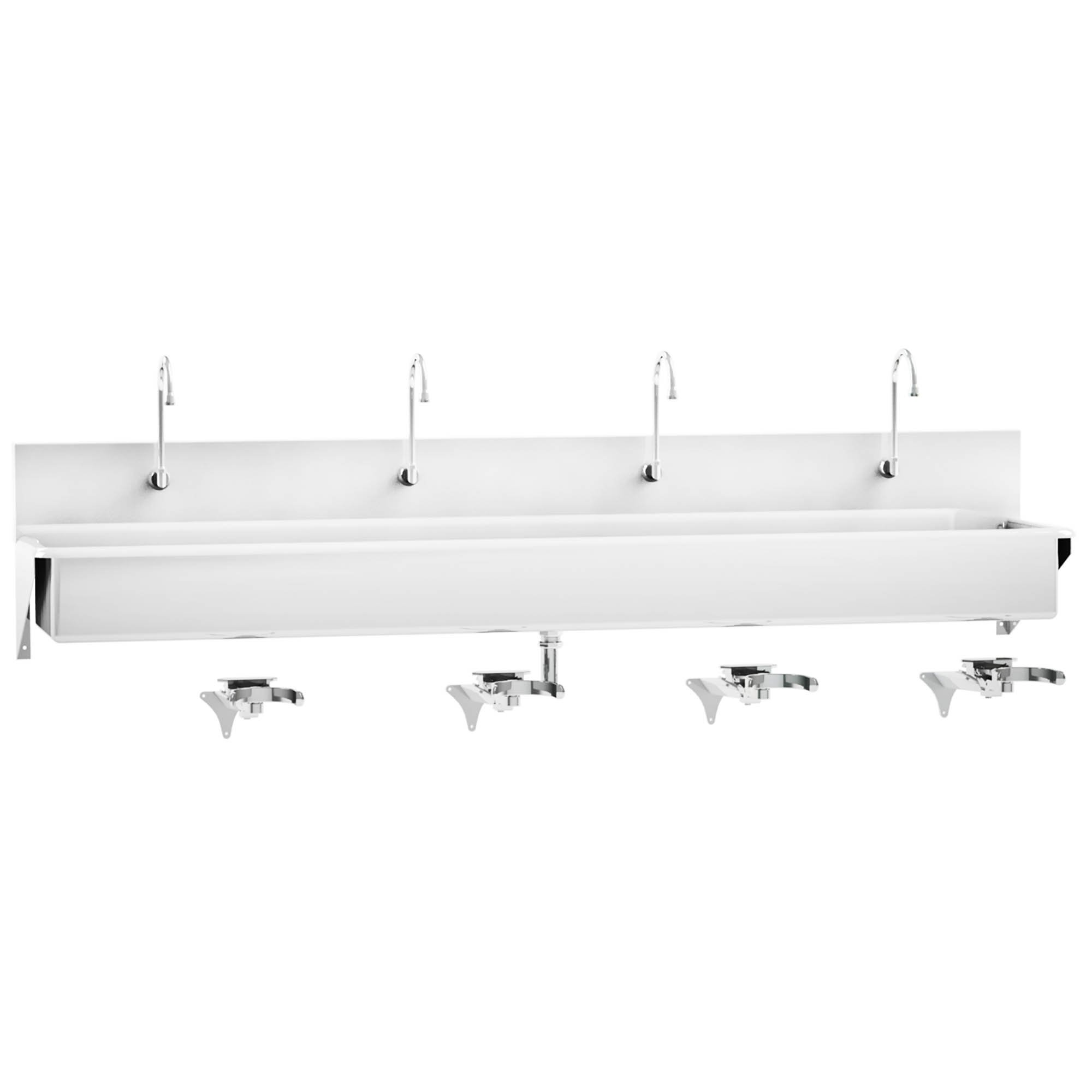 Windsor Scrub Sink - Four-Place Knee-Action Control - 91