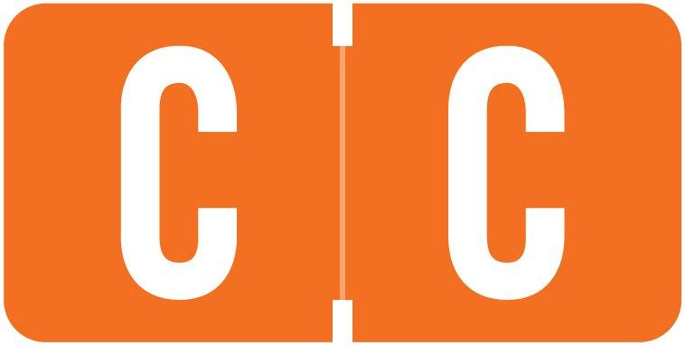 Tab Products 1278 Match Alpha Roll Labels - Letter C - Dark Orange Label