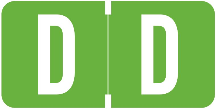 Tab Products 1278 Match Alpha Roll Labels - Letter D - Light Green Label