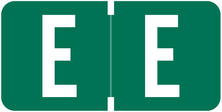 Tab Products 1278 Match Alpha Roll Labels - Letter E - Dark Green Label