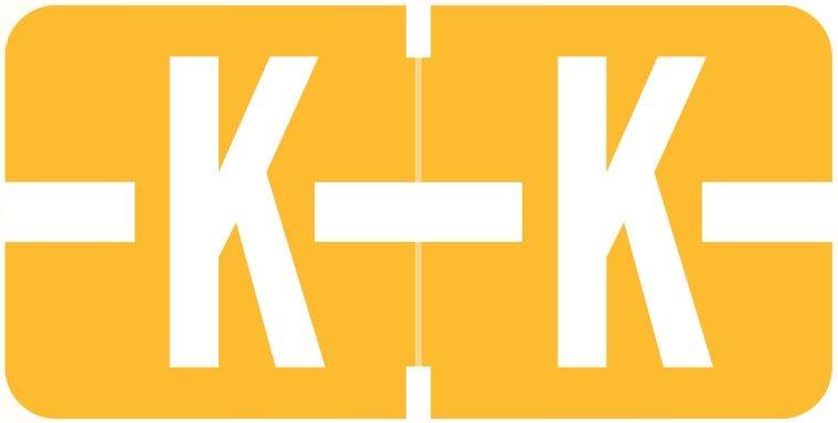 Tab Products 1278 Match Alpha Roll Labels - Letter K - Light Orange Label