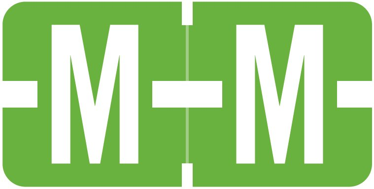 Tab Products 1278 Match Alpha Roll Labels - Letter M - Light Green Label
