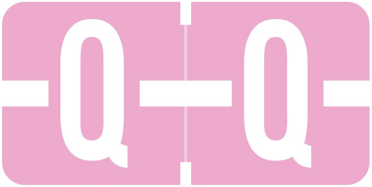 Tab Products 1278 Match Alpha Roll Labels - Letter Q - Lilac Label