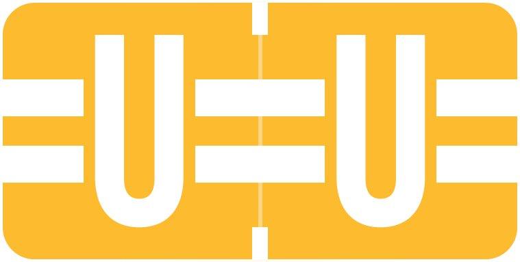 Tab Products 1278 Match Alpha Roll Labels - Letter U - Light Orange Label