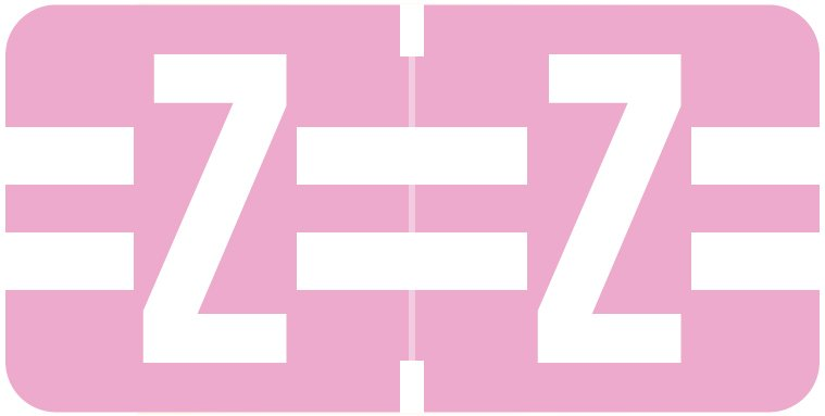 Tab Products 1278 Match Alpha Roll Labels - Letter Z - Lilac Label