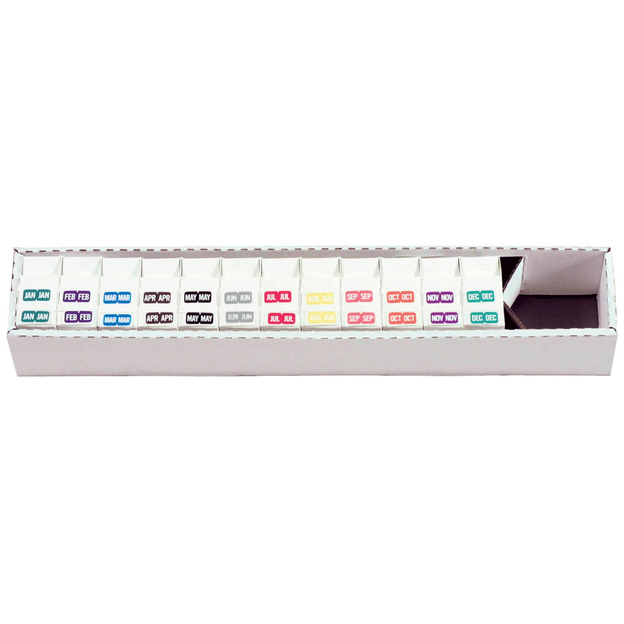 Tab Products 1279 Match A1279 Series Month Code Roll Labels - Set of Jan to Dec