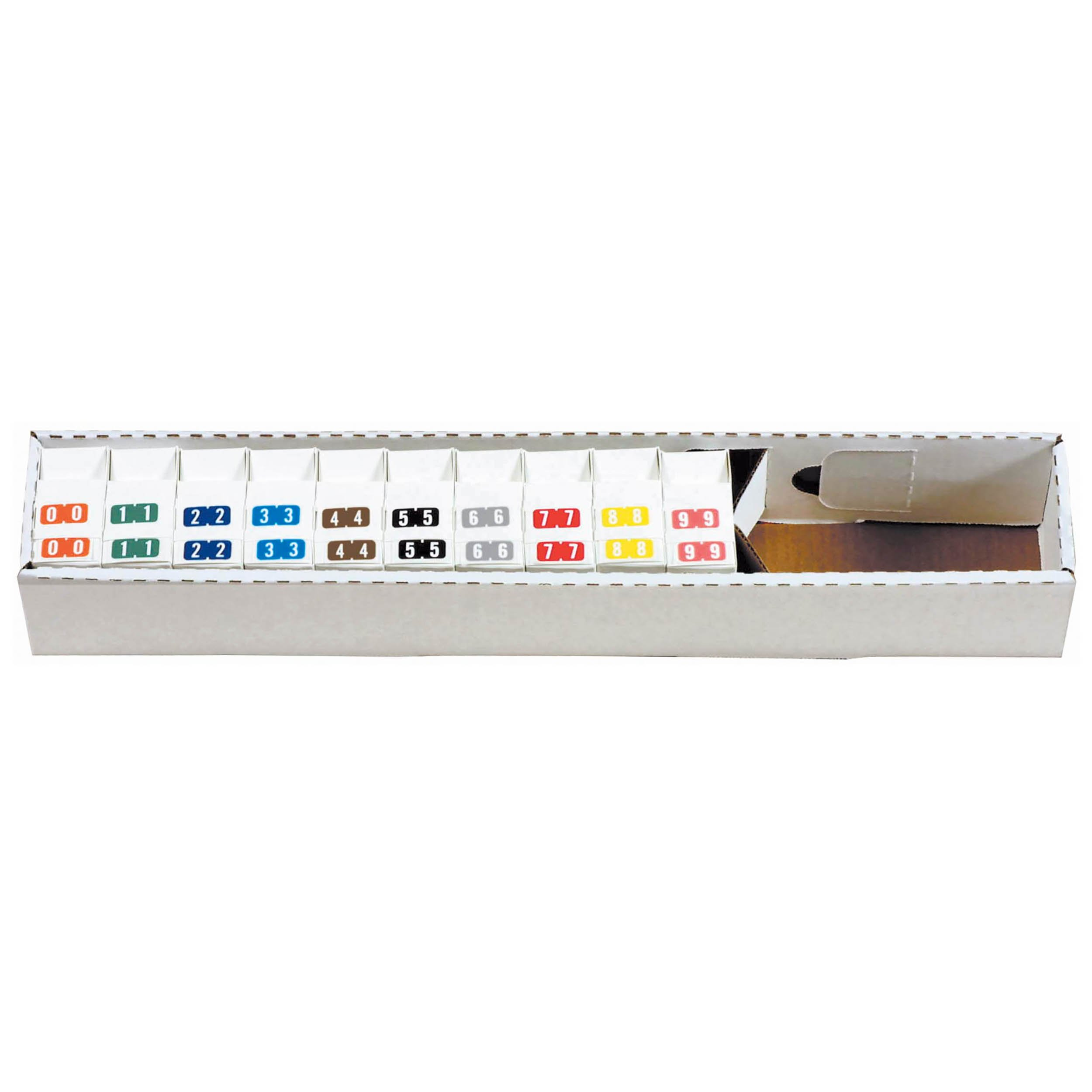 Tab Products 1280 Match Numeric Color Roll Labels - Set of Number 0 to 9
