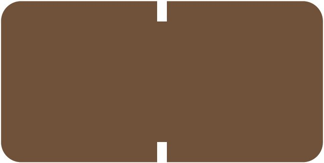 Tab Products 1281 Match A1281 Series Solid Color Roll Labels - Brown