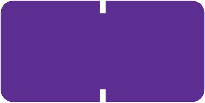 Tab Products 1281 Match A1281 Series Solid Color Roll Labels - Purple