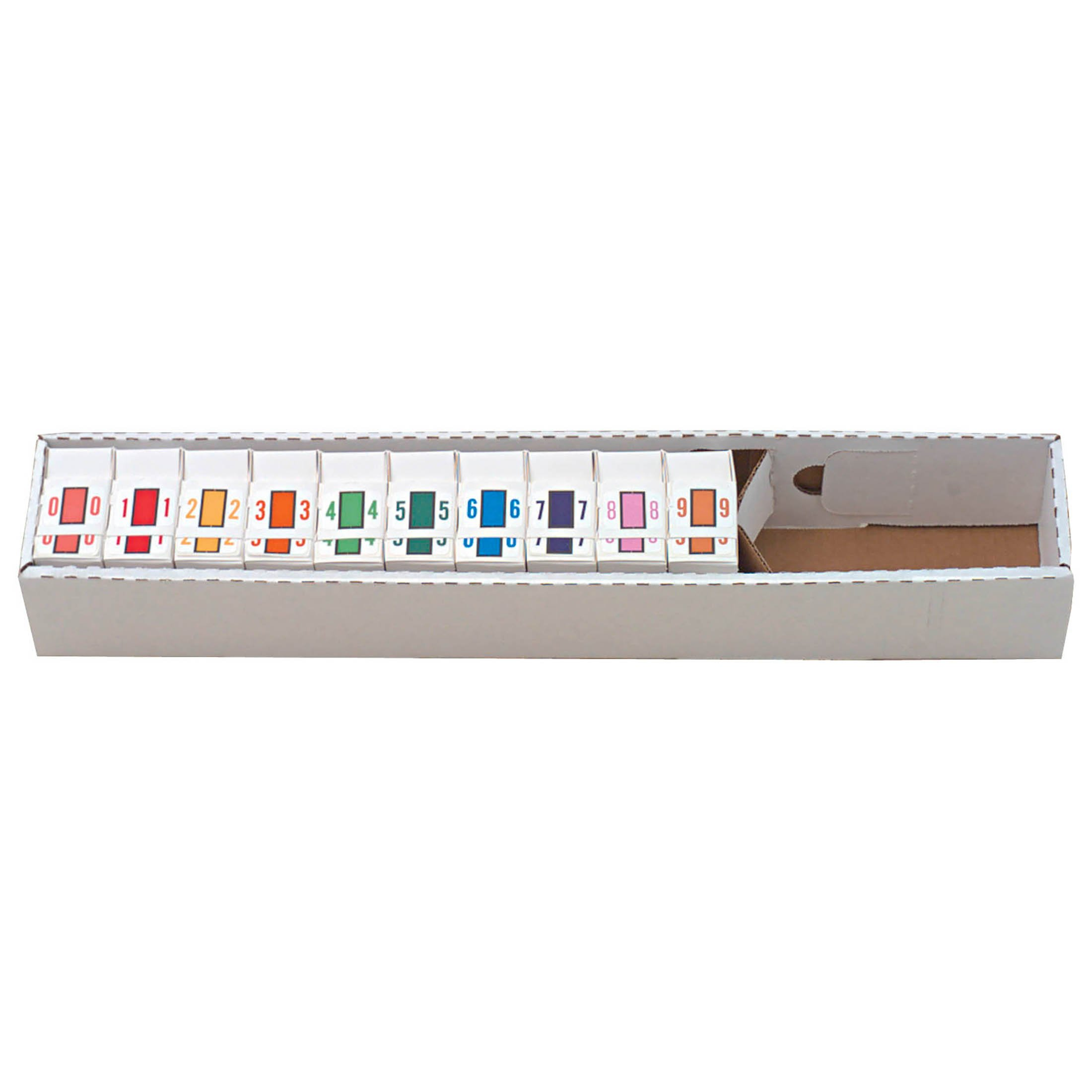 Tab Products 1282 Match Numeric Color Roll Labels - Set of Number 0 to 9
