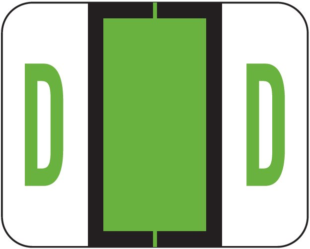Tab Products 1283 Match Alpha Roll Labels - Letter D - Light Green