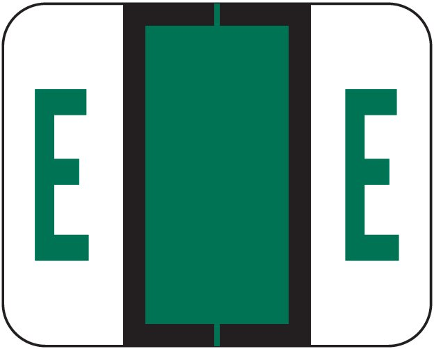 Tab Products 1283 Match Alpha Roll Labels - Letter E - Dark Green