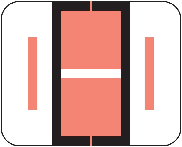Tab Products 1283 Match Alpha Roll Labels - Letter I - Pink