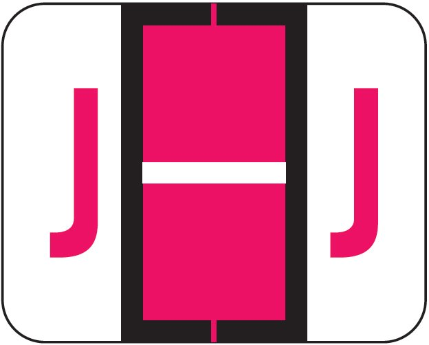Tab Products 1283 Match Alpha Roll Labels - Letter J - Red