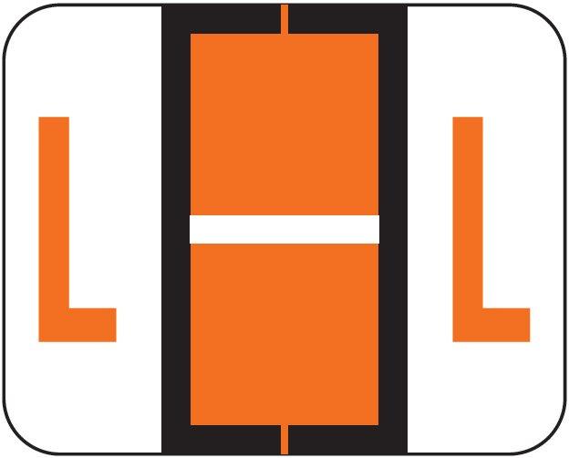 Tab Products 1286 Match Alpha Sheet Labels - Letter L - Dark Orange