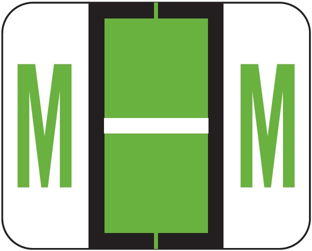 Tab Products 1283 Match Alpha Roll Labels - Letter M - Light Green