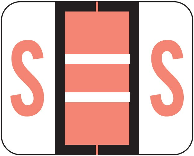 Tab Products 1283 Match Alpha Roll Labels - Letter S - Pink