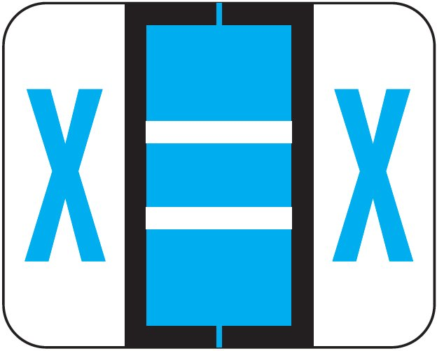 Tab Products 1283 Match Alpha Roll Labels - Letter X - Blue