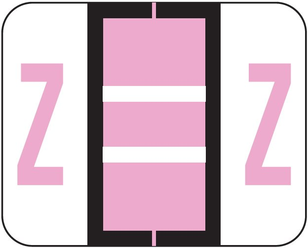 Tab Products 1283 Match Alpha Roll Labels - Letter Z - Lilac