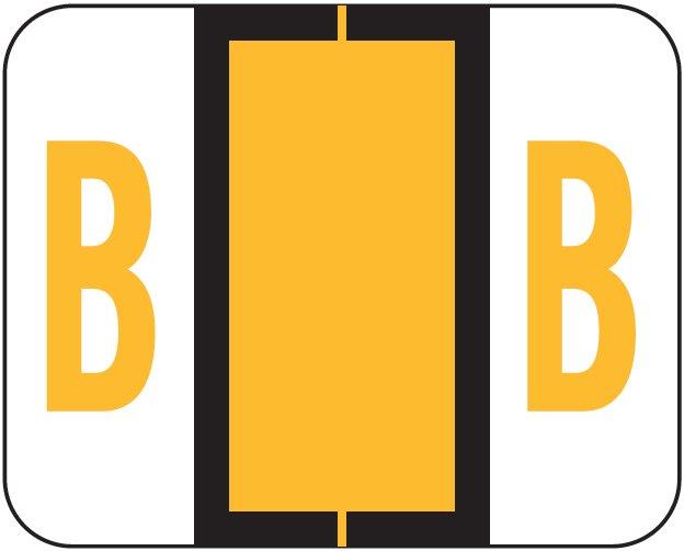 Tab Products 1286 Match Alpha Sheet Labels - Letter B - Light Orange