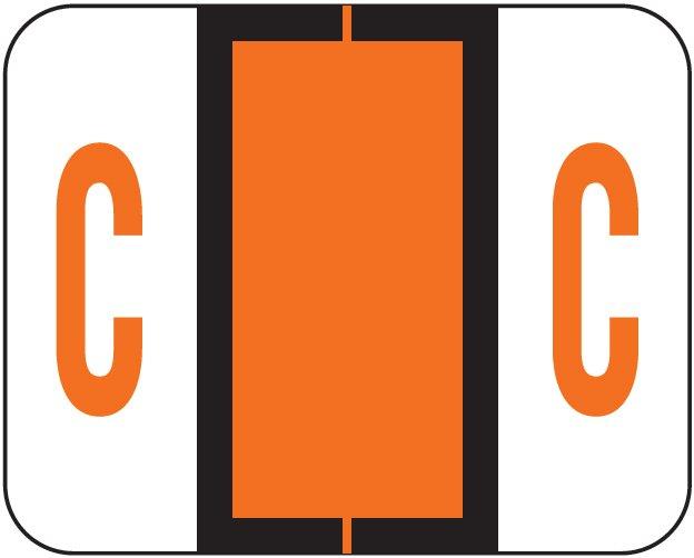 Tab Products 1286 Match Alpha Sheet Labels - Letter C - Dark Orange