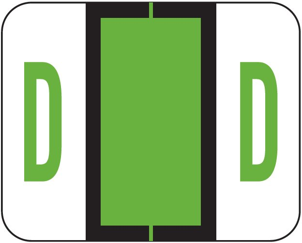 Tab Products 1286 Match Alpha Sheet Labels - Letter D - Light Green