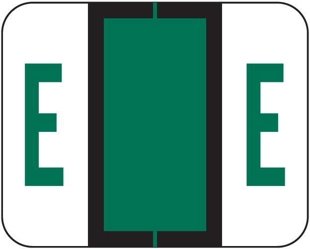 Tab Products 1286 Match Alpha Sheet Labels - Letter E - Dark Green