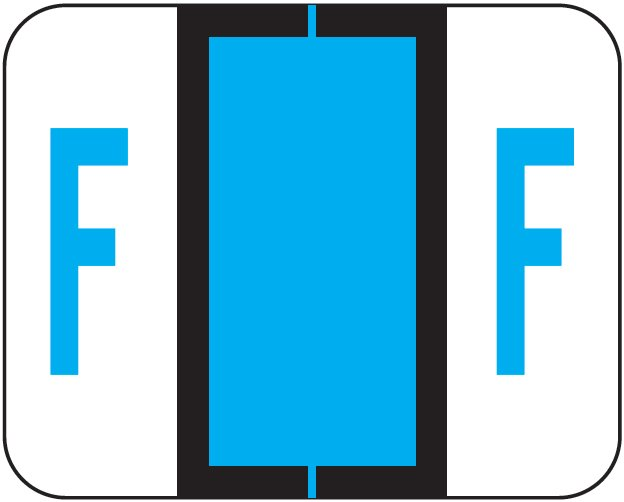 Tab Products 1286 Match Alpha Sheet Labels - Letter F - Blue
