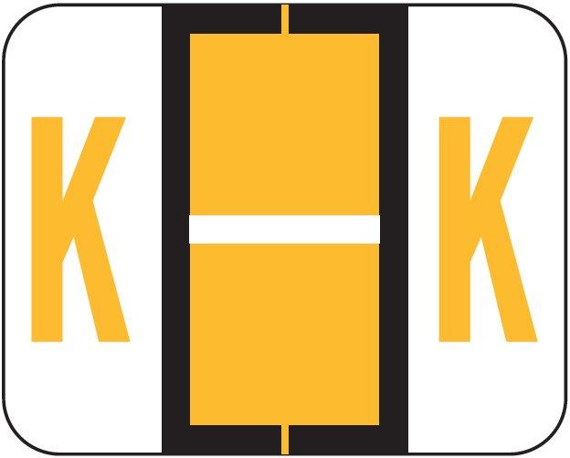 Tab Products 1286 Match Alpha Sheet Labels - Letter K - Light Orange