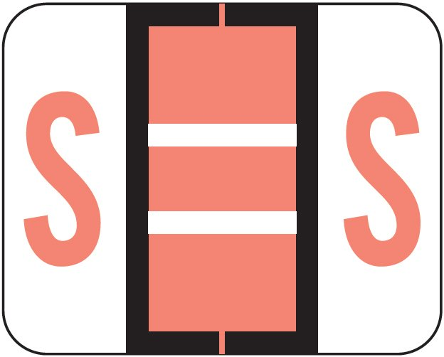 Tab Products 1286 Match Alpha Sheet Labels - Letter S - Pink