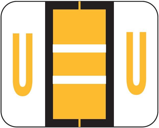 Tab Products 1286 Match Alpha Sheet Labels - Letter U - Light Orange