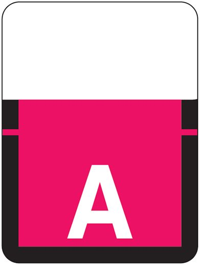 Tab Products 1307 Match Alpha Roll Labels - Letter A - Red Label