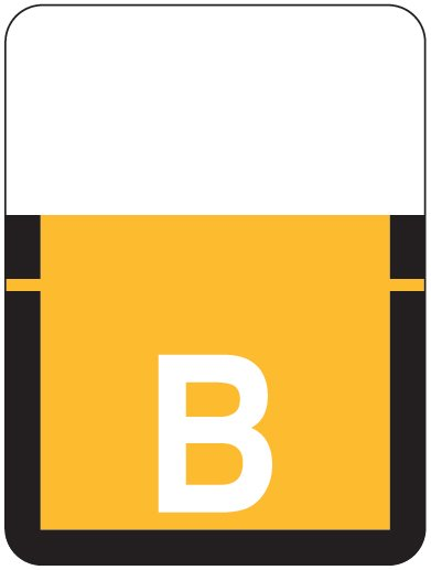 Tab Products 1307 Match Alpha Roll Labels - Letter B - Light Orange Label