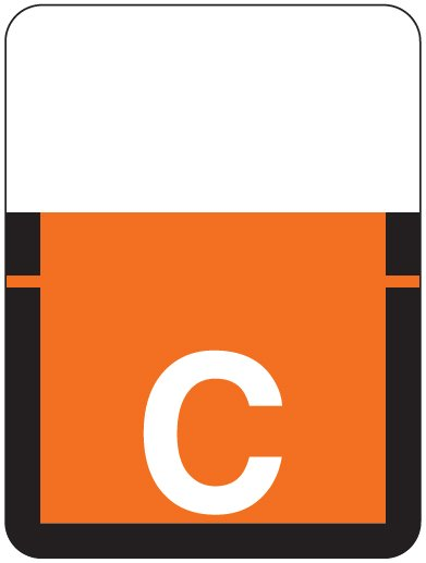 Tab Products 1307 Match Alpha Roll Labels - Letter C - Dark Orange Label