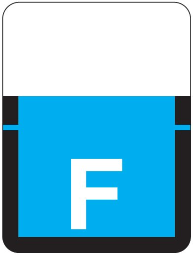 Tab Products 1307 Match Alpha Roll Labels - Letter F - Blue Label