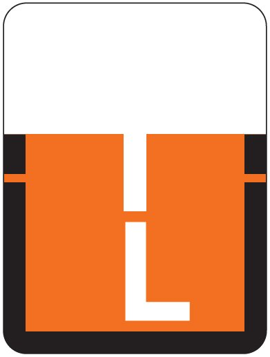 Tab Products 1307 Match Alpha Roll Labels - Letter L - Dark Orange Label