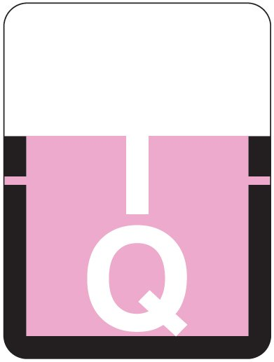 Tab Products 1307 Match Alpha Roll Labels - Letter Q - Lilac Label