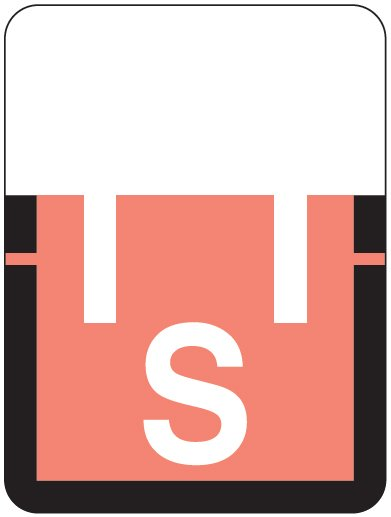 Tab Products 1307 Match Alpha Roll Labels - Letter S - Pink Label
