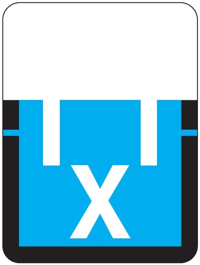 Tab Products 1307 Match Alpha Roll Labels - Letter X - Blue Label