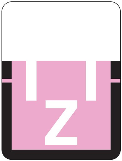 Tab Products 1307 Match Alpha Roll Labels - Letter Z - Lilac Label