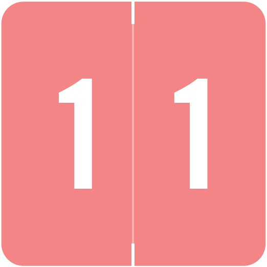 ACME Match ACNM Series Numeric Color Roll Labels - Number 1 - Pink