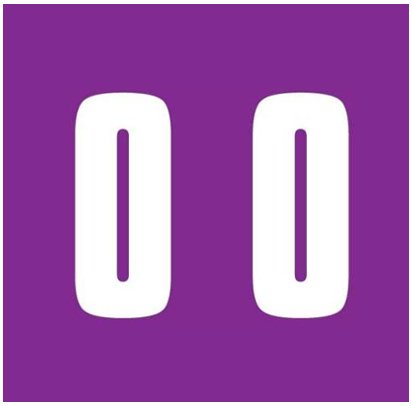 IFC #CL2300 Match System #3 Numeric Color Roll Labels - Number 0 - Purple