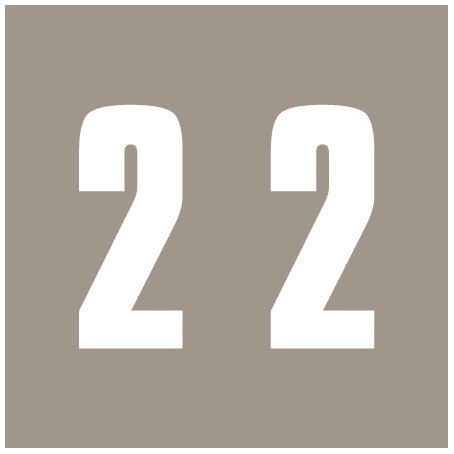 IFC #CL2300 Match System #3 Numeric Color Roll Labels - Number 2 - Gray