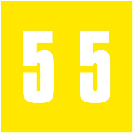IFC #CL2300 Match System #3 Numeric Color Roll Labels - Number 5 - Yellow