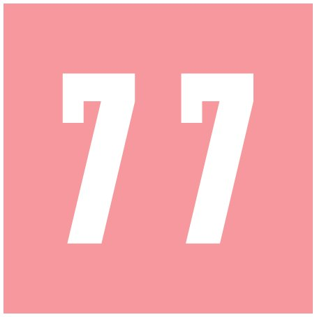 IFC #CL2300 Match System #3 Numeric Color Roll Labels - Number 7 - Pink