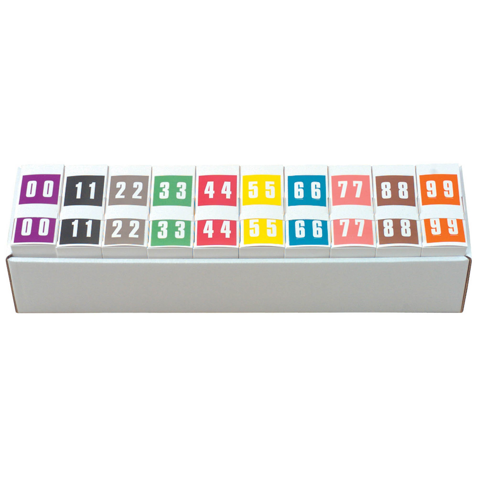IFC #CL2300 Match System #3 Numeric Color Roll Labels - Set of Number 0 to 9