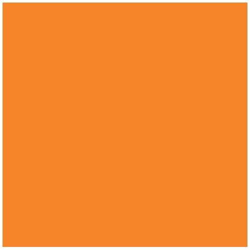 Ames L-A-00178 AMLP Series Solid Color Roll Labels - Orange