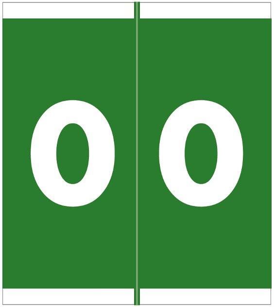 Barkley FNAVM Match AVNM Series Numeric Roll Labels - Number 0 - Green