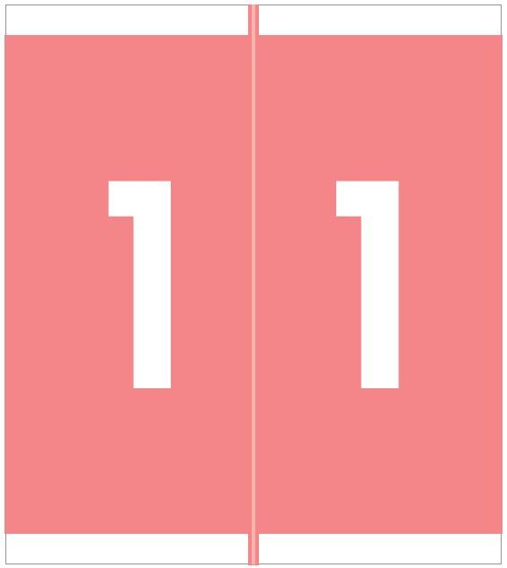 Barkley FNAVM Match AVNM Series Numeric Roll Labels - Number 1 - Pink
